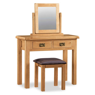 Zelah Oak Stool with dressing table