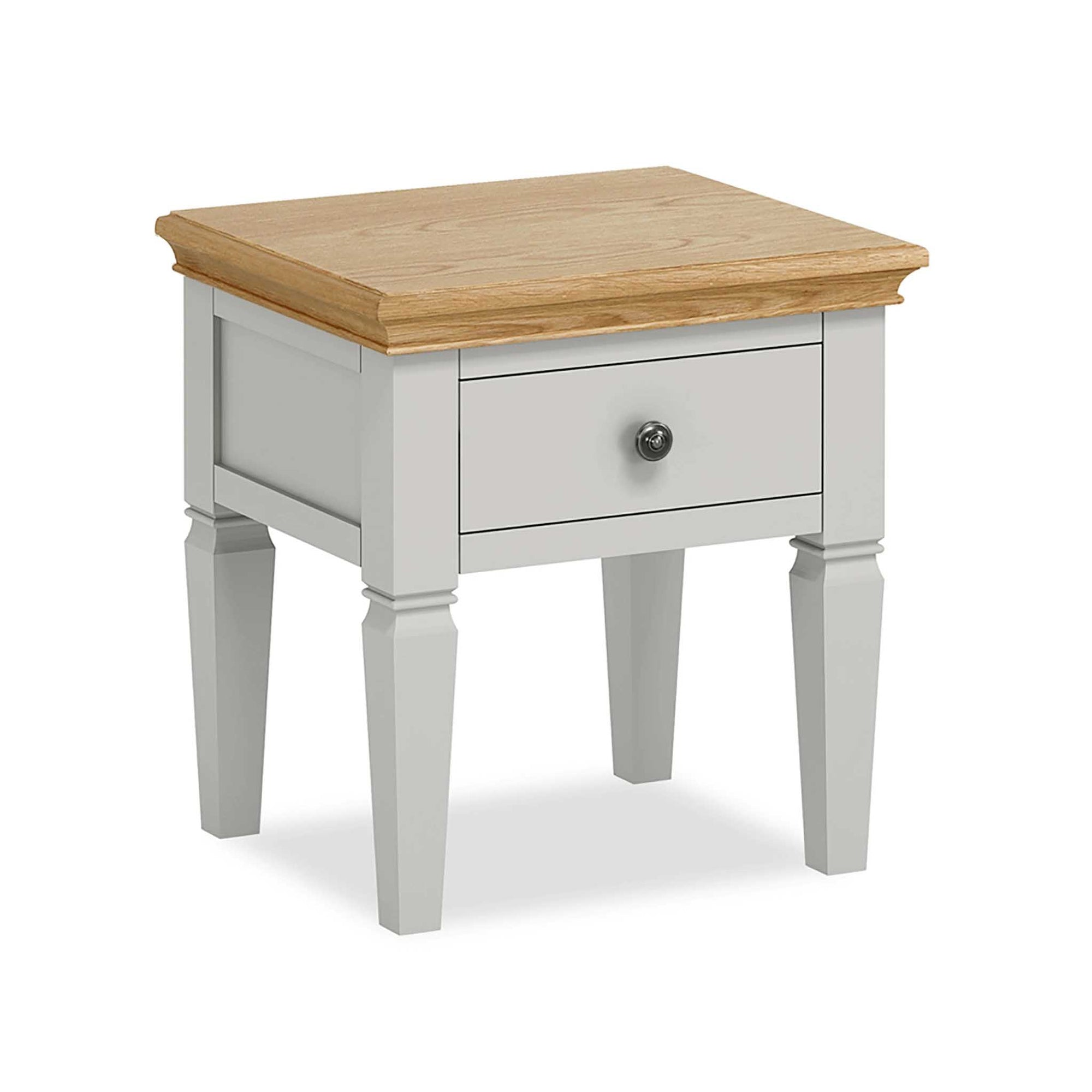 Normandy Grey Lamp Side Table by Roseland Furniture
