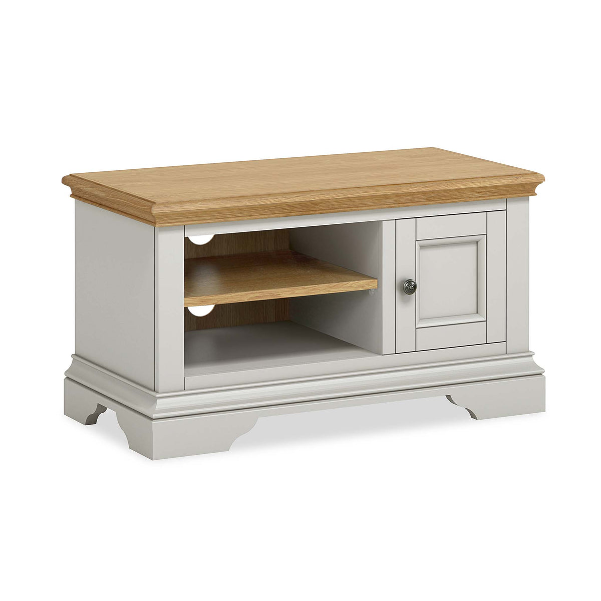 Normandy Grey 90cm TV Stand by Roseland Furniture
