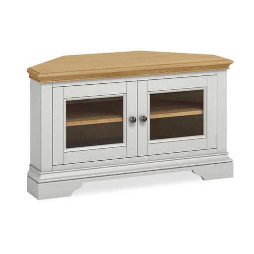 Normandy Grey Corner TV Stand by Roseland Furniture
