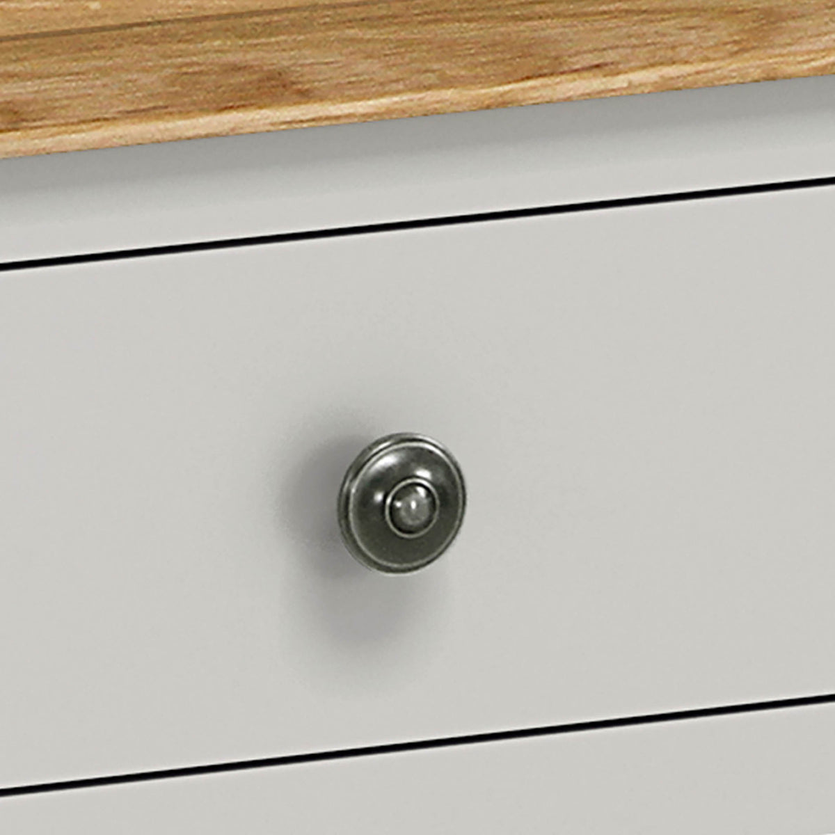 Normandy Grey 2 over 3 Chest of Drawer Knob