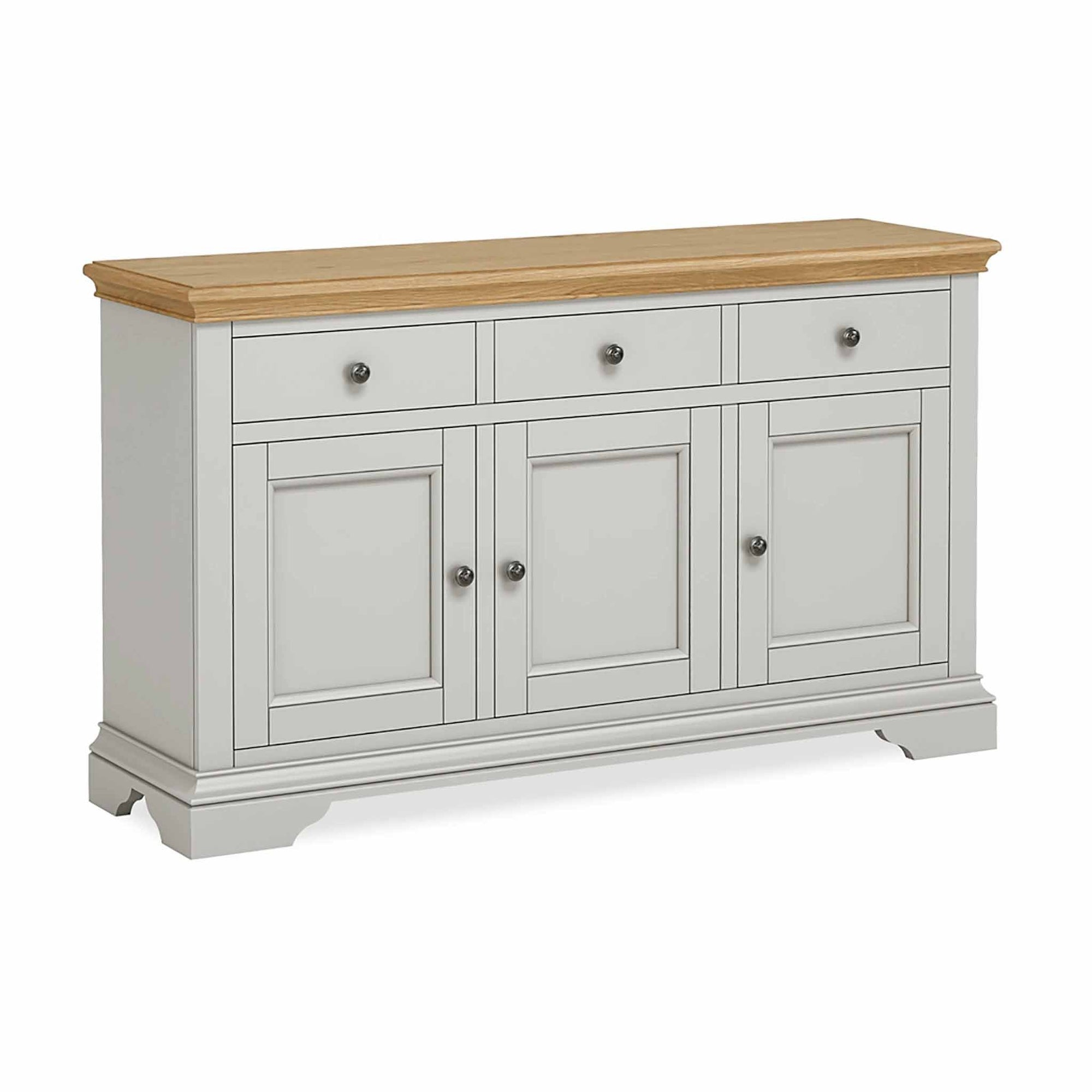 Normandy Grey Large Sideboard by Roseland Furniture