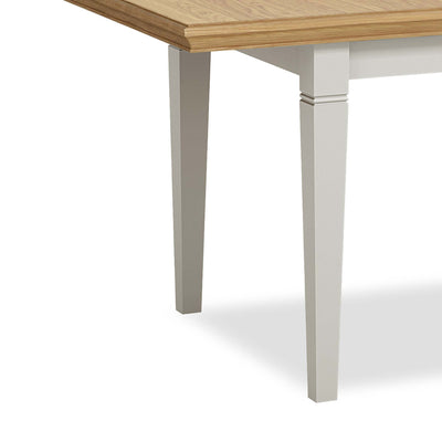 Normandy Grey 120-165cm Dining Table - Close Up of Legs of Table