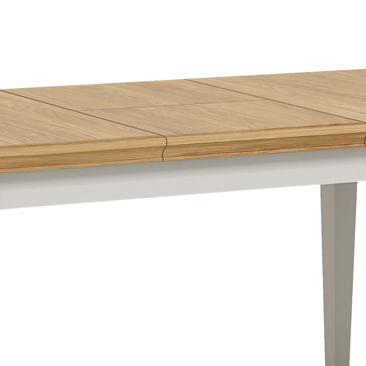 Normandy Grey 120-165cm Dining Table - Close Up of Middle Extension Section