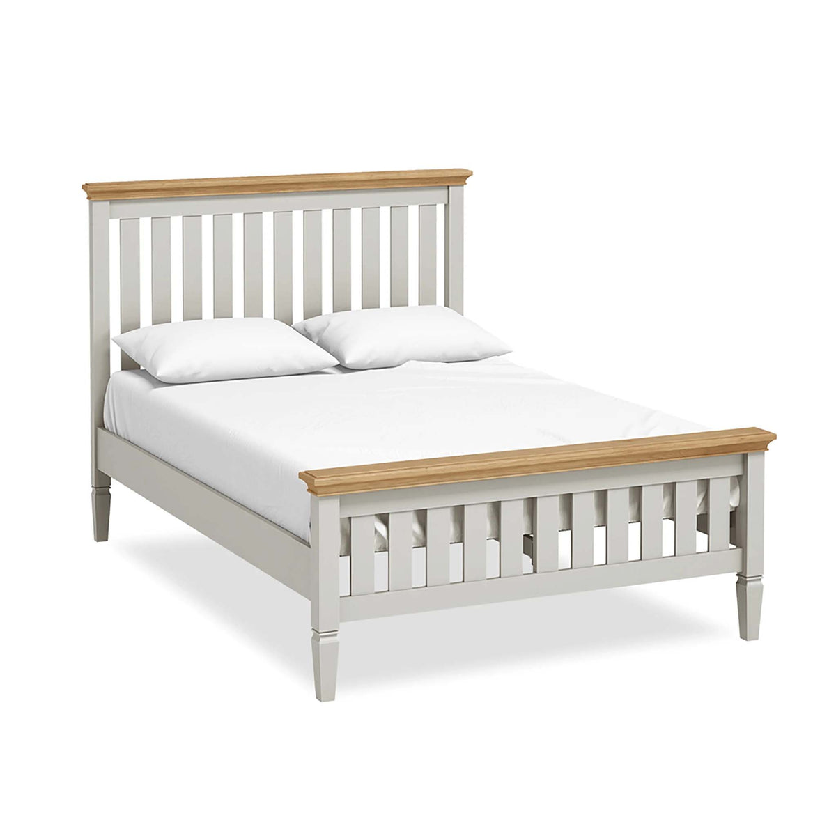 "Normandy Grey 4'6"" Bed by Roseland Furniture"