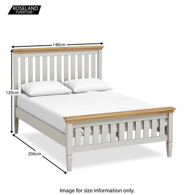 "Normandy Grey 4'6"" Bed - Size Guide"