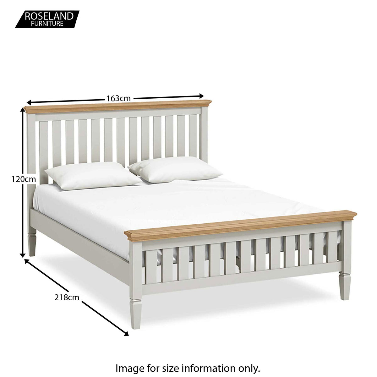 Normandy Grey 5' King Size Bed - Size Guide