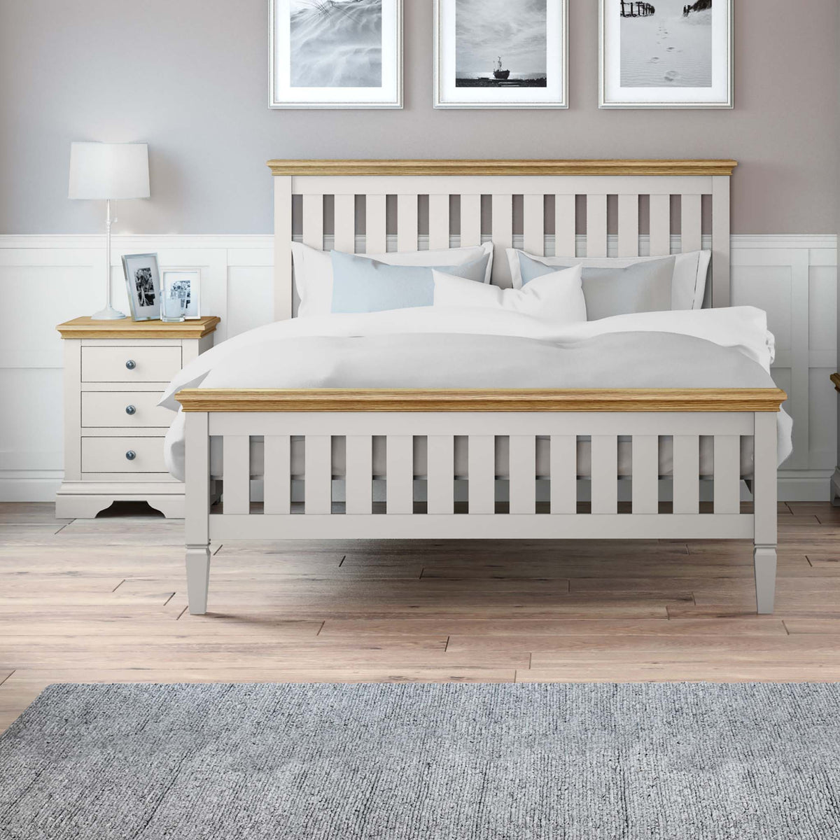 Normandy Grey 5' Bed Frame