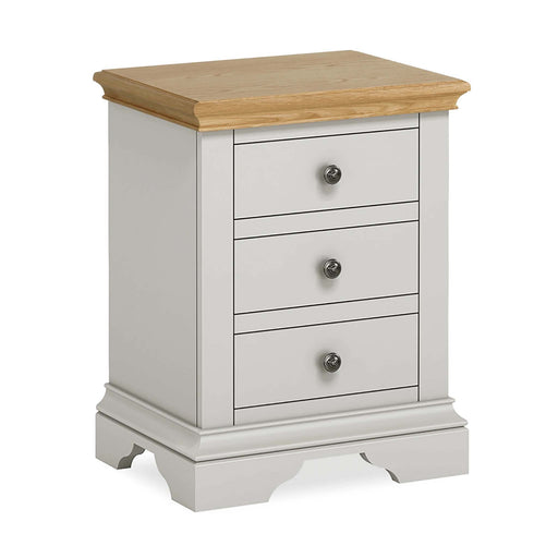 Normandy Grey Bedside Table by Roseland Furniture