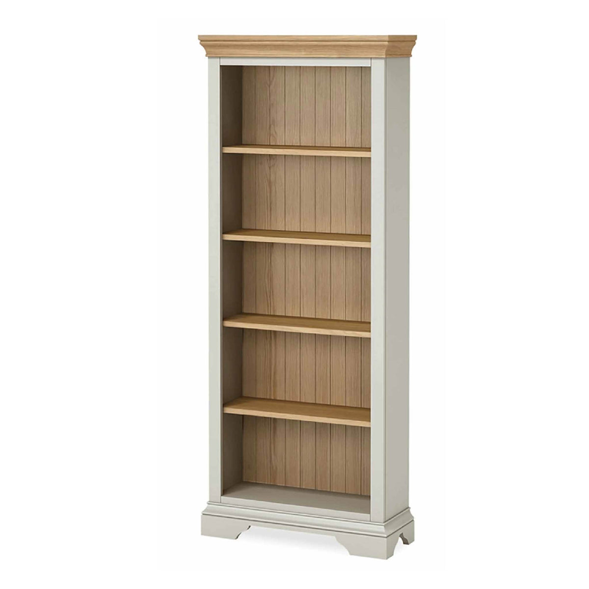 Normandy Grey Large Bookcase by Roseland Furniture