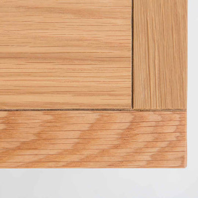 Example 2 of the oak top wood grain on the Farrow Grey Small TV Unit