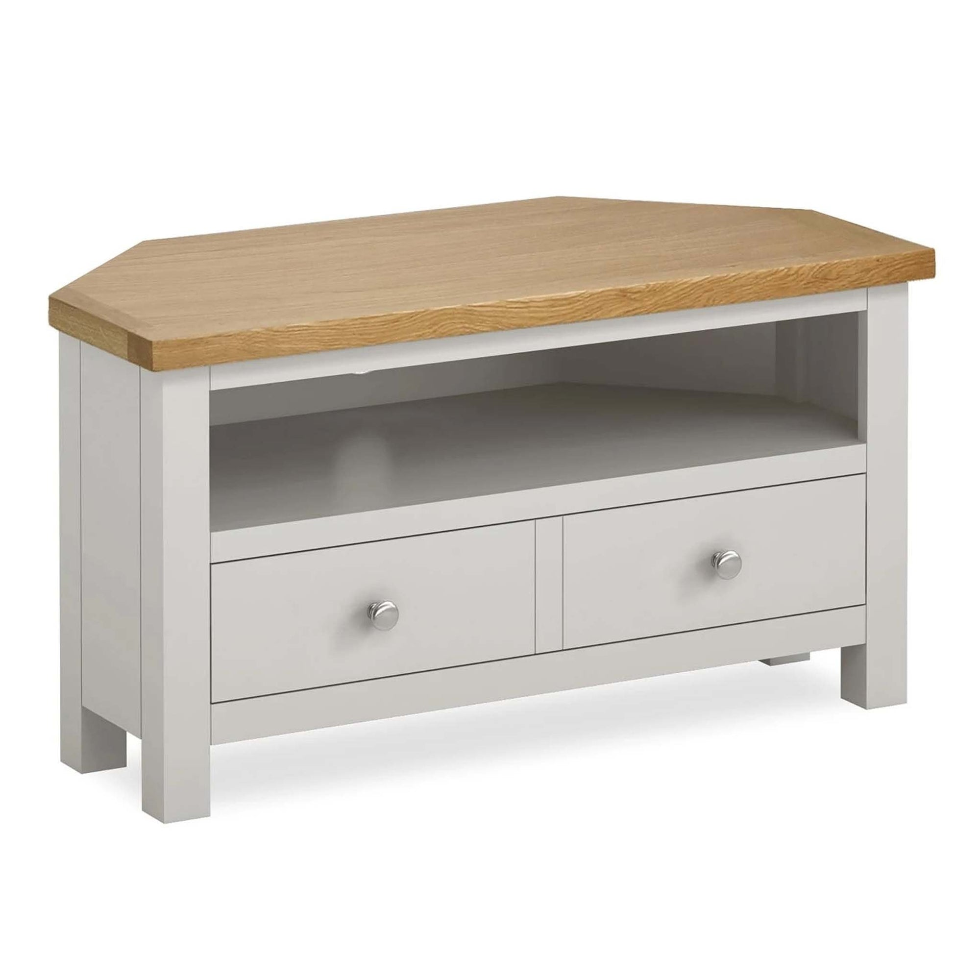 Farrow Grey Corner TV Stand by Roseland Furniture
