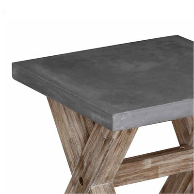 Rock Concrete Lamp Table - Close up of table top