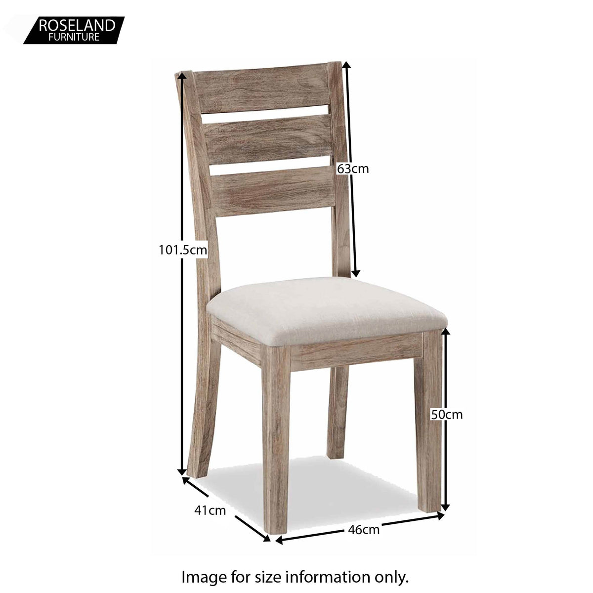 Rock Dining Chair - Size Guide