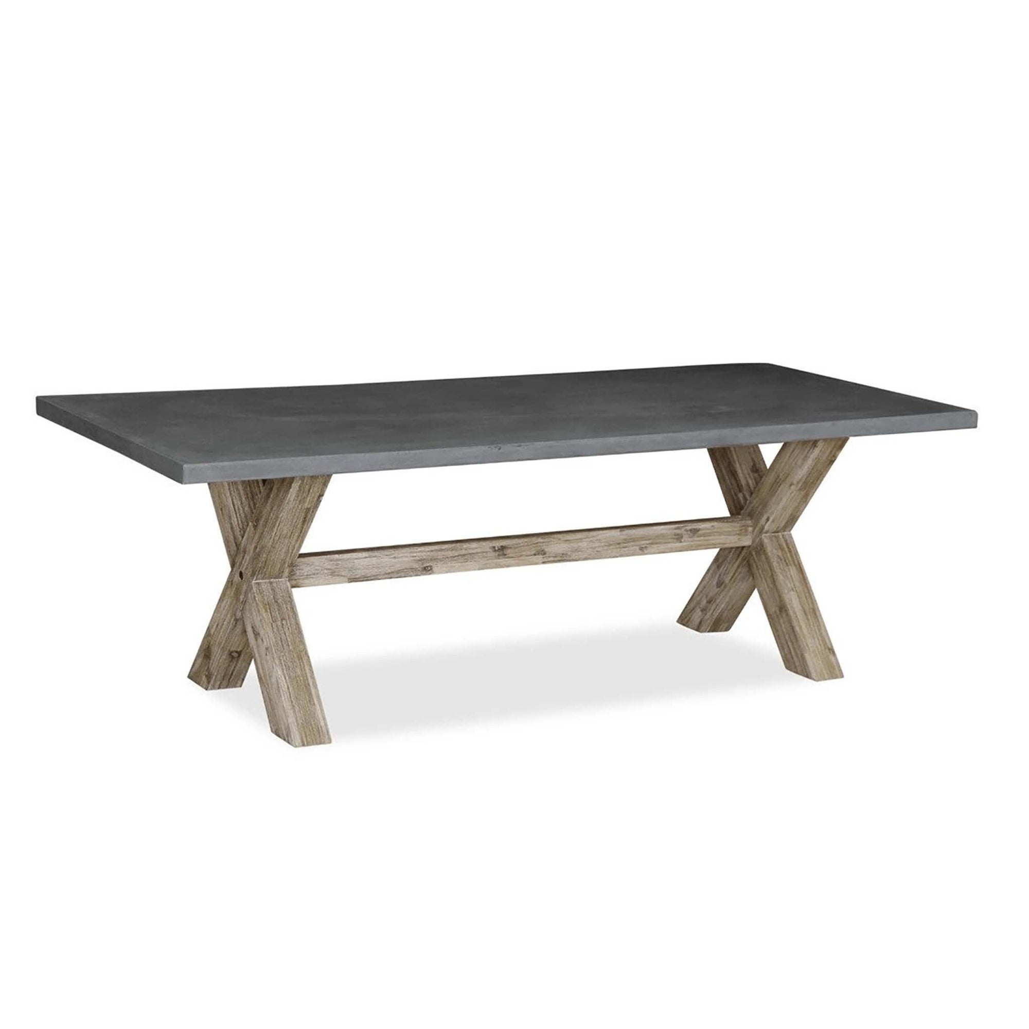 Rock Concrete 190cm Dining Table by Roseland Furniture
