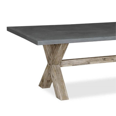 Rock Concrete 230cm Dining Table - Close up of cross section