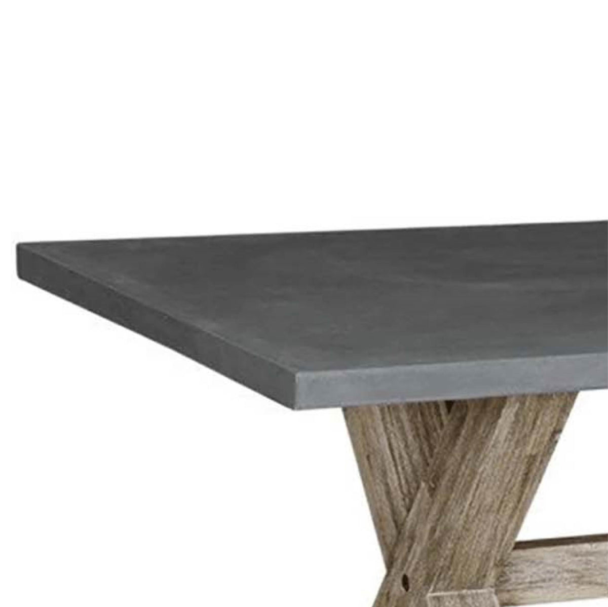 Rock Concrete 230cm Dining Table - close up of  table top edge