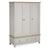 The Farrow Grey Large Wardrobe with 3 Doors & Drawers by Roseland Furniture