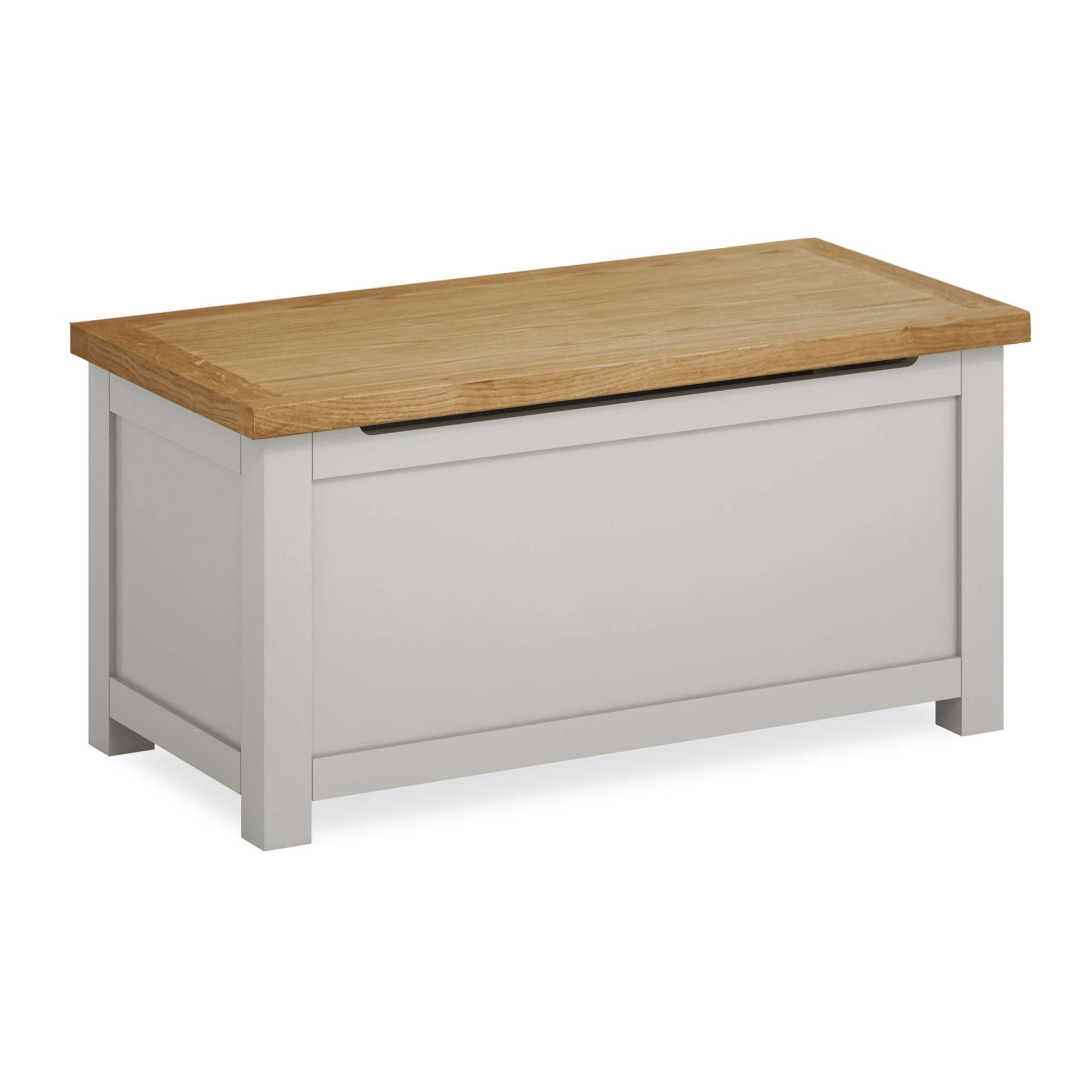 Farrow Grey Painted Blanket Box. Hope Chest by Roseland Furniture.