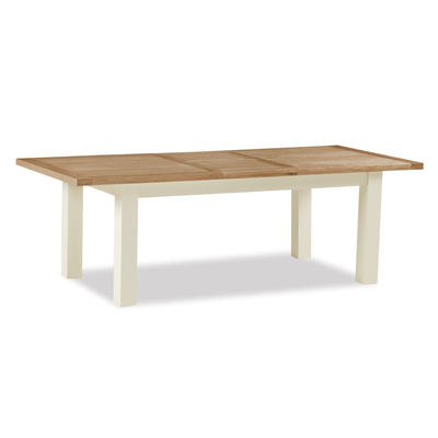Daymer Cream 120-165cm Extending Table