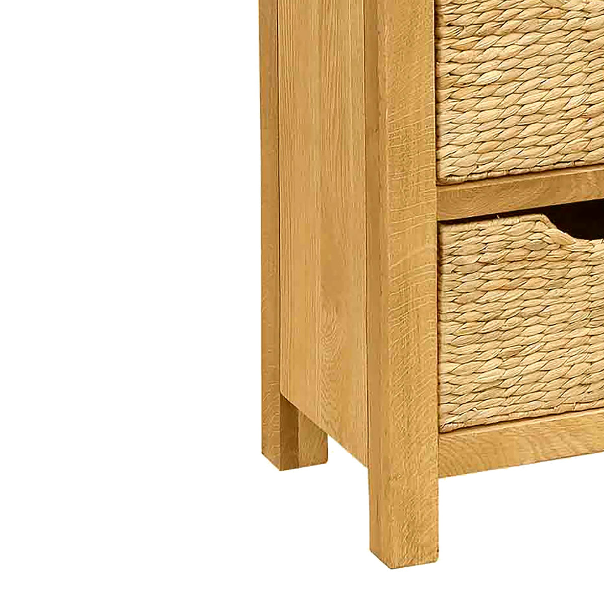 Surrey Oak Tallboy with Baskets - Close Up of Feet