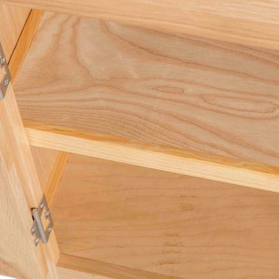 London Oak Mini Sideboard - Close up of inside shelves in cupboard