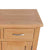 London Oak Mini Sideboard - Close up of the corner Oak top on the sideboard