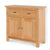 Front view of a London Oak Mini Sideboard.