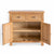 London Oak Mini Sideboard - Front view with cupboard doors open
