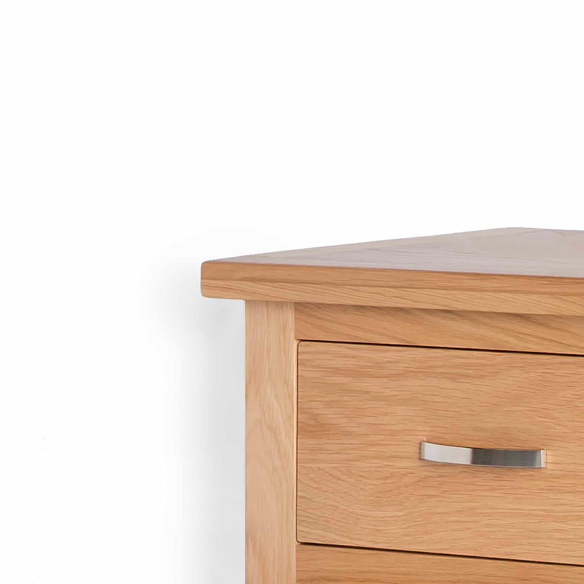 London Oak Mini Sideboard - Close up of drawer front