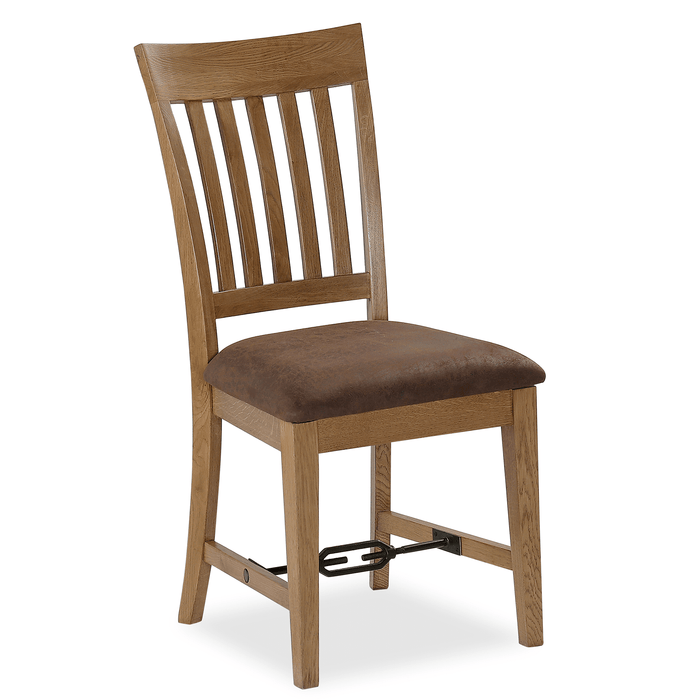 Industrial Oak Slatted Dining Chair