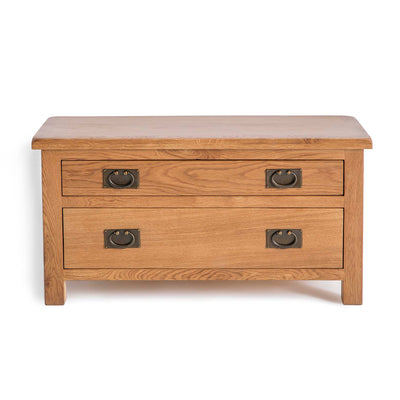 Surrey Oak 85cm TV Stand with Drawers by Roseland Furniture