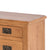 Surrey Oak 85cm TV Stand with Drawers - Close up of oak top