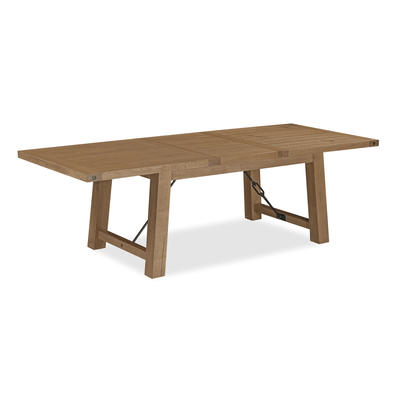 Industrial Oak Extending Dining Table