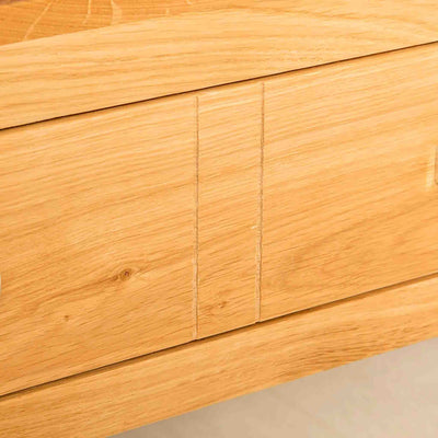 Side panel view of the Abbey Light Oak Coffee Table from Roseland Furniture