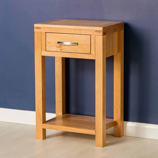 The Abbey Light Oak Small Hall Table by Roseland Furniture