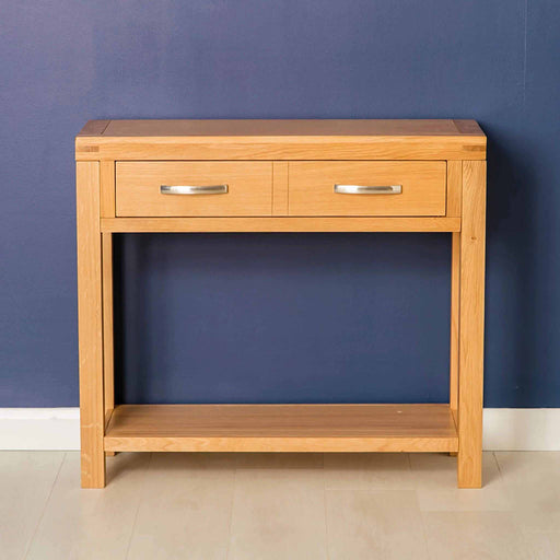Abbey Light Oak Console Table by Roseland Furniture