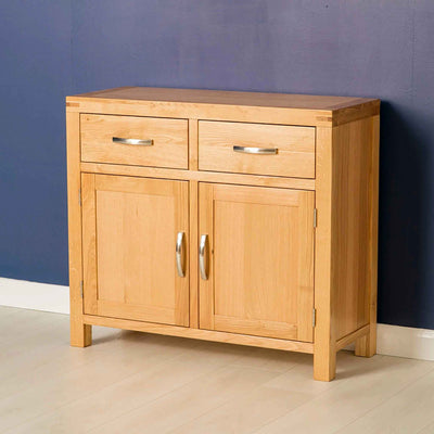 The Abbey Light Oak Small Sideboard Cabinet by Roseland Furniture
