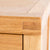 Abbey Light Oak Mini Sideboard - Close up of tenon joint on the corners of sideboard