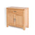 Abbey Light Oak Mini Sideboard - Side View