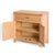 Abbey Light Oak Mini Sideboard - Side View with doors open