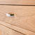 Abbey Light Oak Mini Sideboard - Close up of drawer