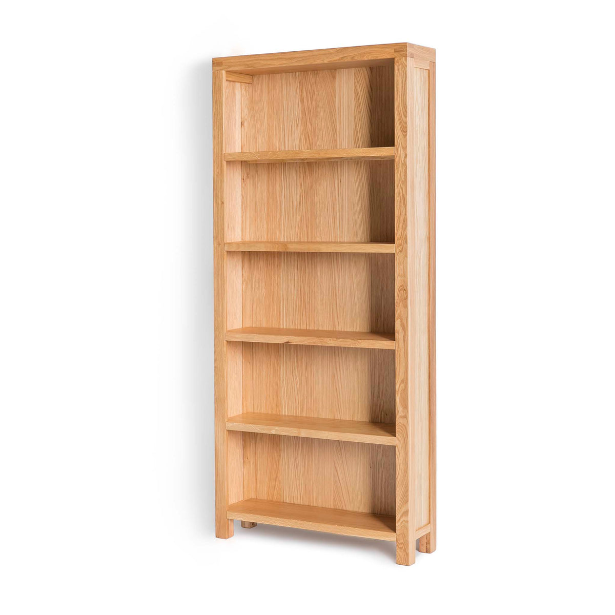 Abbey Light Oak Large Bookcase - Side view