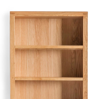 Abbey Light Oak Large Bookcase - Close up of shelves