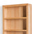 Abbey Light Oak Large Bookcase - Close up of shelves side on
