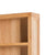 Abbey Light Oak Large Bookcase - Close up of top corner