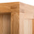 Abbey Light Oak Large Bookcase - Close up of corner tenon joint