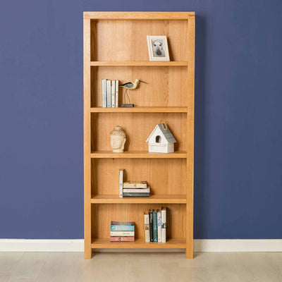 The Abbey Light Oak Large Bookcase - Lifestyle