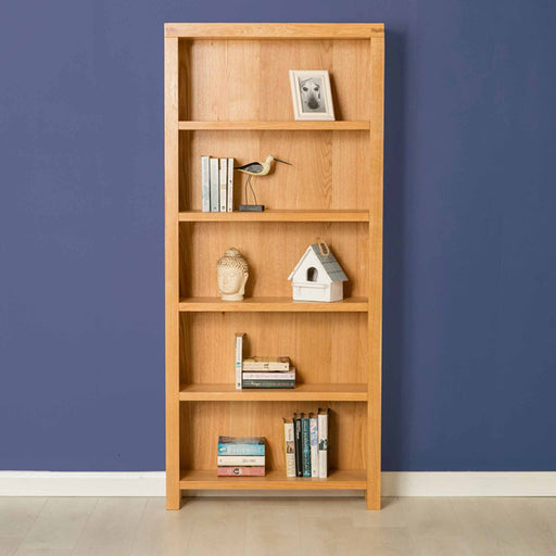 The Abbey Light Oak Large Bookcase by Roseland Furniture