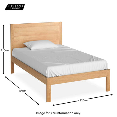 The Abbey Light Oak 4' Bed - size guide